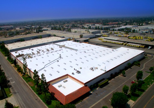 Trojan Battery HQ UpGrades Re-Roof Project With SKYCO Skylights UL Listed Smoke Vent Skylights