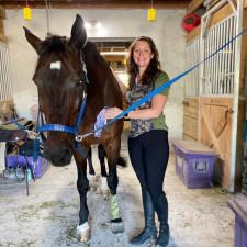 Bricole Reincke with her horse