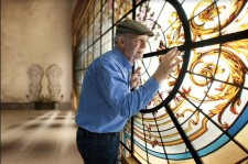 Faithfully restoring stained-glass window