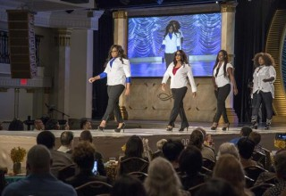 "Young ladies modeled fashions at the Fort Harrison September 30 for the 5th annual ""From Runaway to Runway"" fashion show fundraiser for Miracles Outreach nonprofit."