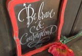 Be brave and courageous - reclaimed frame