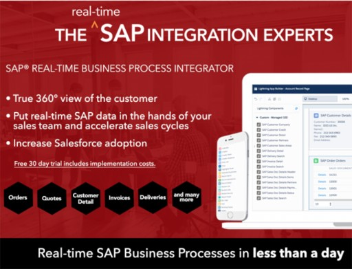 enosiX, Inc. Announces SAP® Real-Time Business Process Integrator App on the Salesforce AppExchange