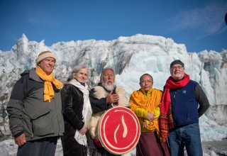 Peace pledge project initiators witness tragedy of melting Greenland Ice Sheet.