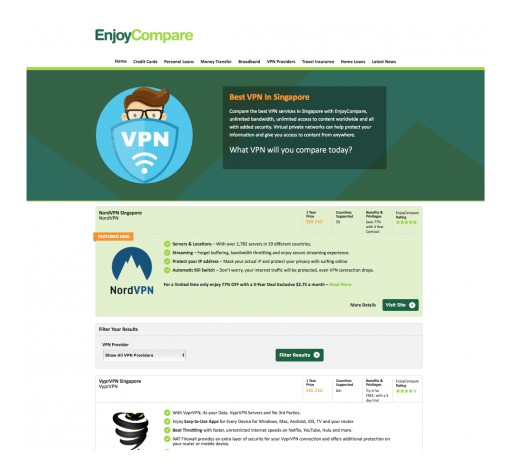 EnjoyCompare Expands Into VPN Comparison in Singapore