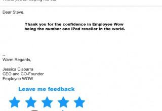E-mail Signature Feedback
