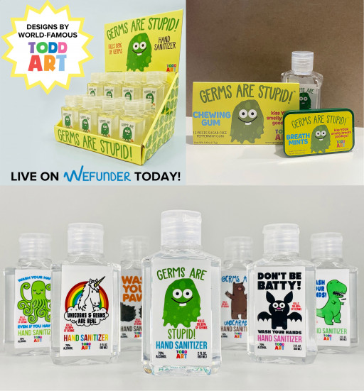 Germs, Inc. Announces Crowdfunding Raise for GERMS ARE STUPID Line of Consumer Products