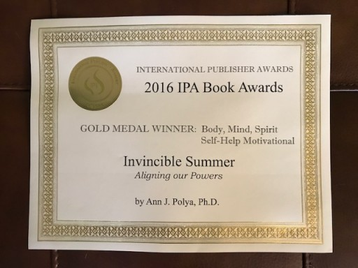 """Invincible Summer"" Book Just Won the International Publisher's Award for Best Book in Body, Mind, Spirit Category"