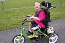 A previous winner of the adaptive bike giveaway