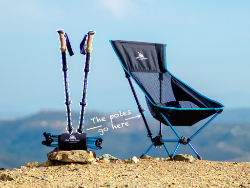 Get Out Gear Launches 2-in-1 Trekking Pole & Camp Chair System for Backcountry Adventurers