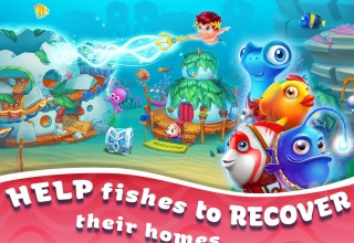 Help fishes to recover their homes