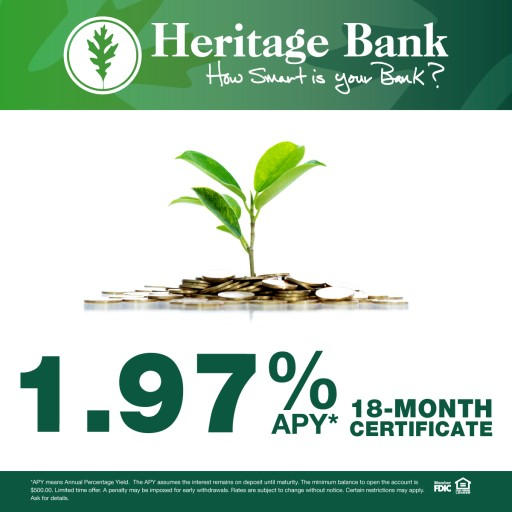 New Rates at Heritage Bank of St. Tammany