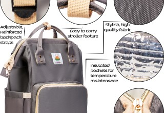 Lazy Monk Diaper Bag