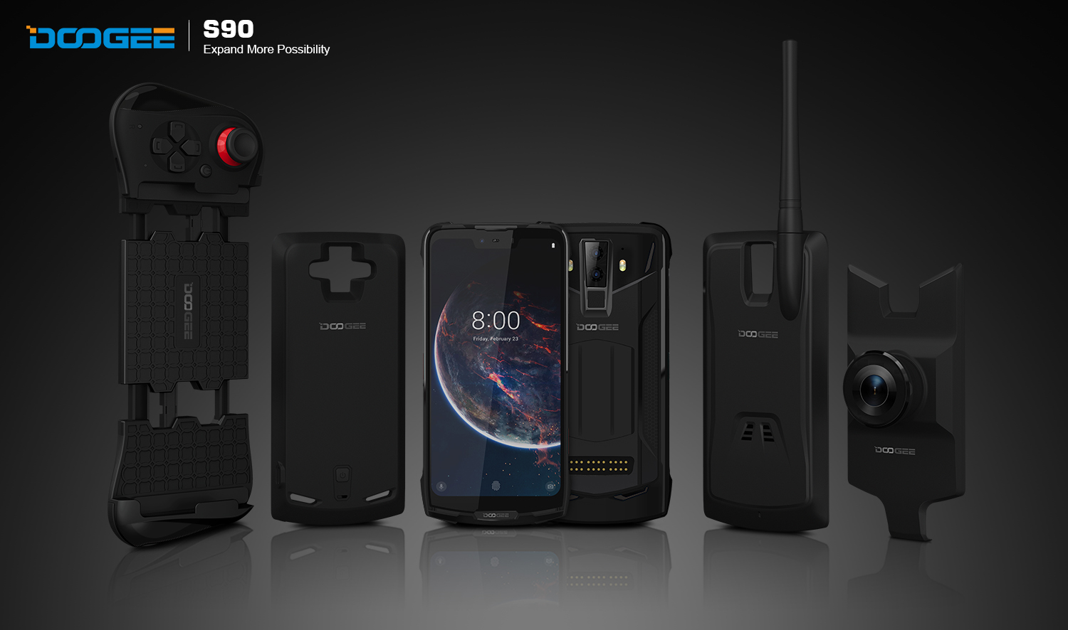 Doogee S90 Opens Modular Smartphone Era Supporting Self