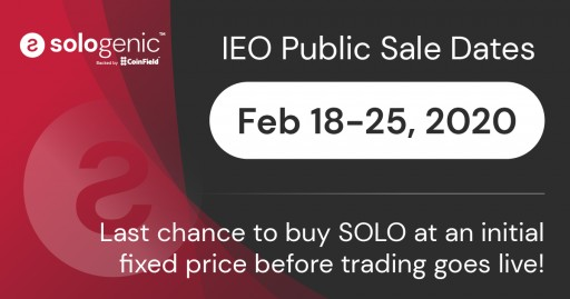 Sologenic IEO Will Be Launched on CoinField Exchange on February 18th