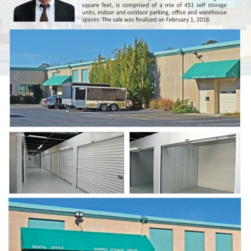 The Storage Acquisition Group Announces the Sale of Warren Storage Center