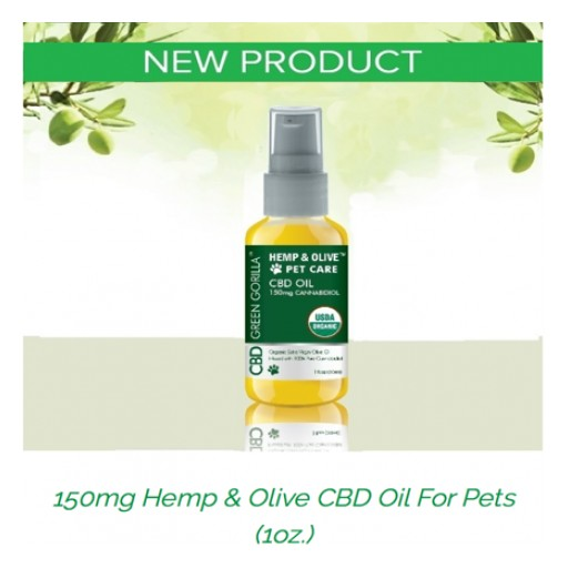 Green Gorilla World's Best CBD Brand Releases New Pet Care Products 150mg and 600mg 1oz