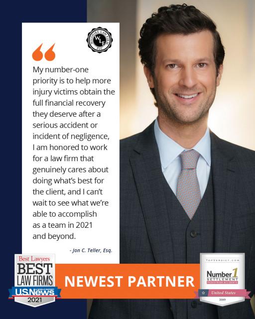Wilshire Law Firm Promotes Jon C. Teller, Esq. to Partner