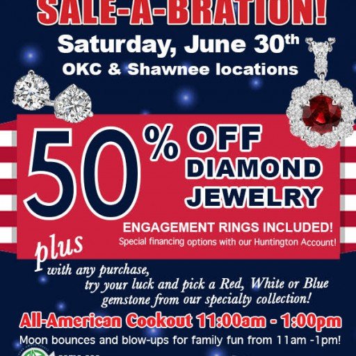 Huntington Fine Jewelers Celebrates 4th of July With 50 Percent Off Diamond Jewelry Sale and Family Fun