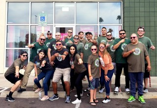 Wireless Vision employees in Tucson, Ariz., showing off their freshly  shaven heads to help raise funds for childhood cancer research.