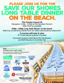 Save Our Shores Long Table flyer