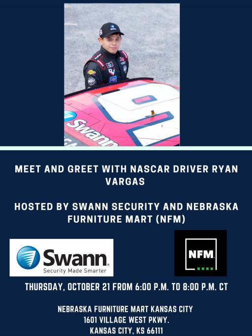 Swann Security and Nebraska Furniture Mart Partner to Sponsor Ryan Vargas During NASCAR Xfinity Series Kansas Lottery 300