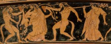 Attic Greek Red Figure Vase scene