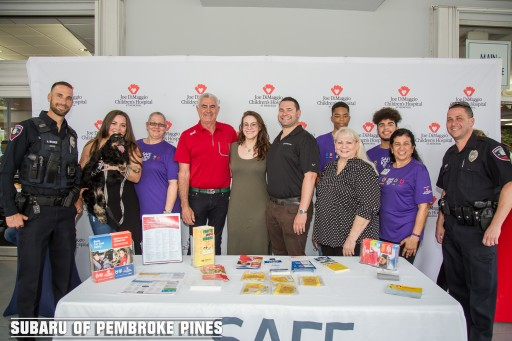 The Craig Zinn Automotive Group Partnered With Joe DiMaggio Children's Hospital Once Again to Host the 2nd Annual Subaru of Pembroke Pines Operation Kidsafe