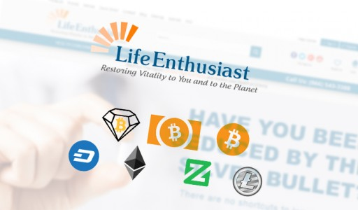Life Enthusiast and Remarkable Recovery CBD Store to Accept Payments in Bitcoin Diamond and Other Cryptocurrencies