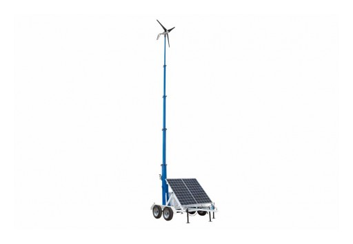Larson Electronics Releases Solar/Wind 30-Foot LED Light Tower, 160W Wind Generator, 12V 250aH Gel Cell Battery With Charger