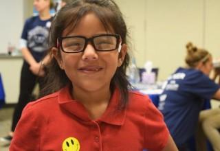 Essilor Vision Foundation girl wearing glasses