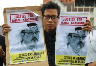 Protest after the death of journalist Jamal Khashoggi