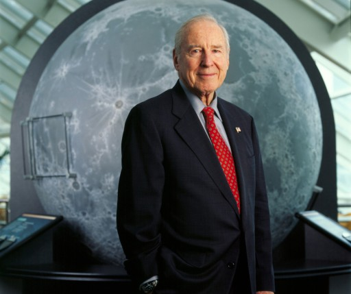 NASA Legend and Apollo 13 Commander Captain James Lovell Holds News Conference at Morehead Planetarium and Science Center