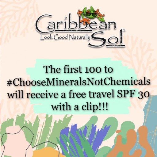 Caribbean Sol Sunscreen Starts Movement to #ChooseMineralsNotChemicals in Honor of World Reef Day and World Oceans Day This June