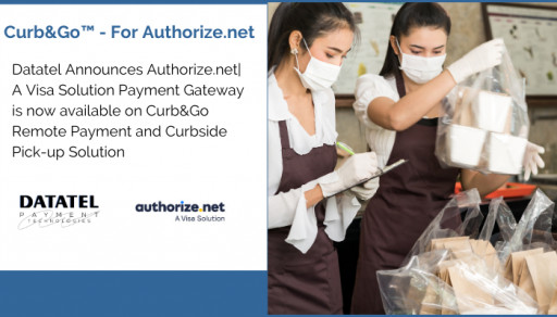 Datatel Announces Authorize.net| A Visa Solution Payment Gateway is now available on Curb&Go Remote Payment and Curbside Pick-up Solution