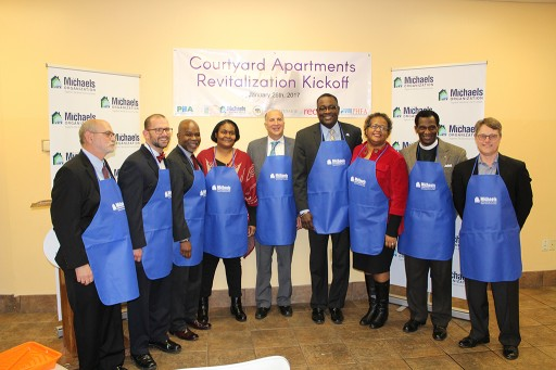 The Michaels Organization Celebrates Revitalization Kickoff at Courtyard Apartments