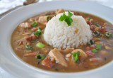 Chicken and Sausage gumbo recipe with healthy dry roux