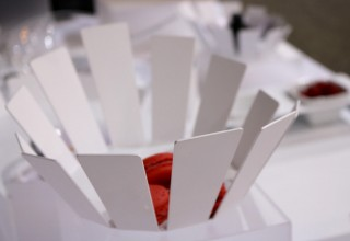 NY Now Tradshow Elleffe Design Luxury Italian Stainless Steel Matte White