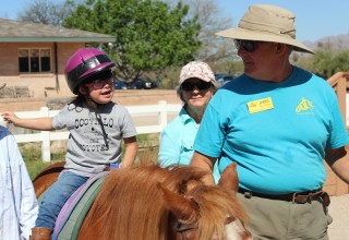 Therapeutic Riding of Tucson rider on her horse