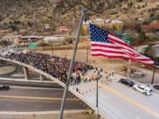 The Grand Avenue Bridge opening in Glenwood Springs, Colorado