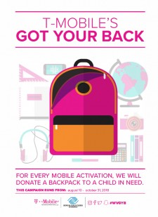 T-Mobile Operated by Wireless Vision to Donate 1,000 Backpacks and Supplies to Oak Park Preparatory Academy