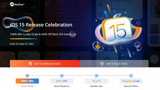 iMyFone Celebrates iOS 15 Release With Time-Limited Free Gifts and Software Discount
