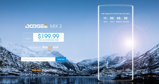 DOOGEE MIX 2: The First Quad-Camera Smartphone With Stunning Face Recognition Sells at $199