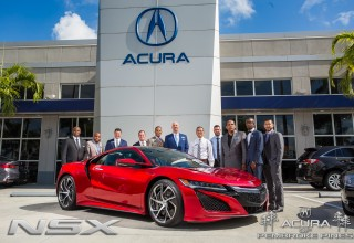 Acura of Pembroke Pines Sales Team with the 2017 Acura NSX