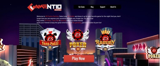 Gamentio - 3D Poker, Teen-Patti and Rummy Launched on Web and Android