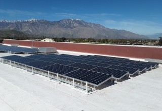Sullivan Solar Power's winning project at Cathedral City High School