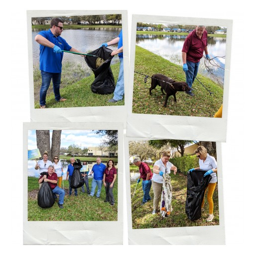 Local Pet Health Company PetTest by Pharma Supply, Inc. Cleans Local Lake of 125 Pounds of Plastic and Garbage