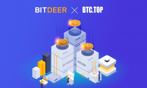 BitDeer.com Partners With BTC.TOP to Provide Better Shared Mining Service