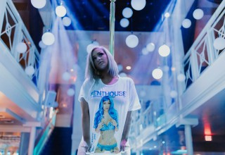 Penthouse Blue Bikini Tee
