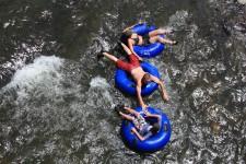 Tubing down the San Juan River