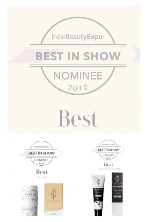 CBD Skincare Company, LA LA LEAF, Nominated for 'Best in Show' at 2019 Indie Beauty Expo
